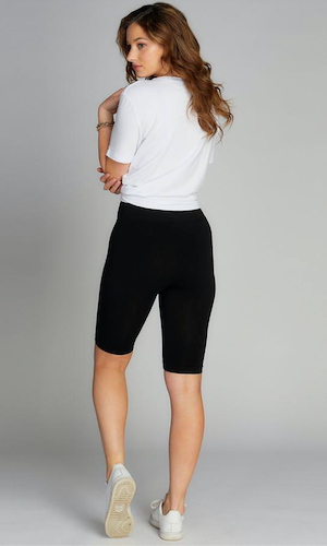 Bamboo bike shorts (high waisted)