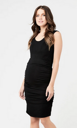 Cocoon tank dress - black