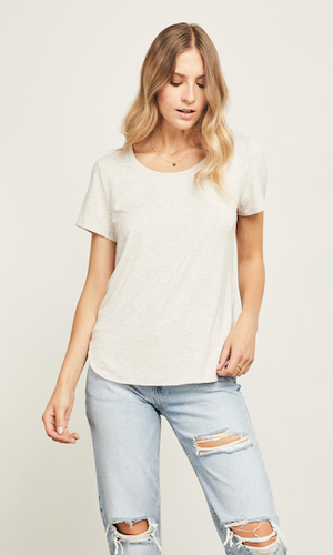 Alabama tee - heather taupe