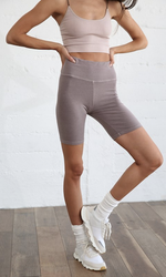 High waisted bike short - dusty lilac