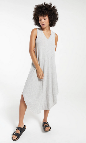 Reverie midi dress - heather grey