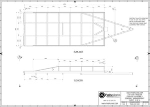 heavy duty car trailer plans fabplans 2500kg blueprints