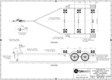 Load image into Gallery viewer, plan view boat trailer plans fabplans