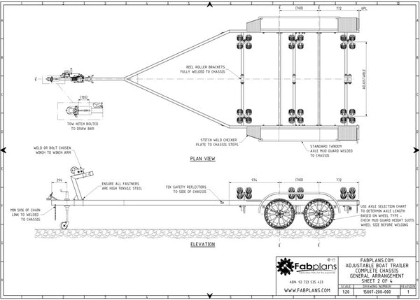 Boat trailer plans build your own boat trailer fabplans boat trailer plans malvernweather Gallery