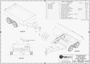 fabplans hydraulic tipper trailer plans blueprints