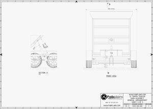 fabplans tipper dump trailer plans front view drawing