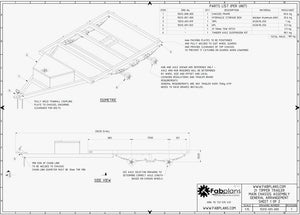 fabplans lower chassis trailer plans fabplans