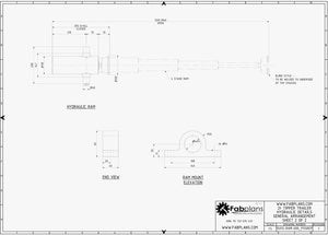 fabplans hydraulic dump trailer blueprints showing ram drawing