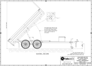 side view drawing hydraulic trailer plans fabplans blueprints