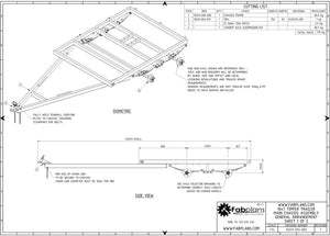 chassis isometric trailer plans fabplans blueprints