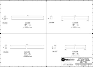 parts list drawing for trailer plans fabplans blueprints