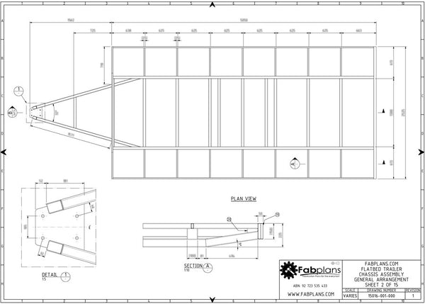 3500kg flatbed trailer plans build your own trailer fabplans blueprints and trailer plans for heavy duty plans malvernweather Gallery