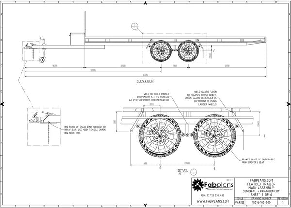3500kg flatbed trailer plans build your own trailer fabplans fabplans wide flatbed 3500kg trailer plans wheel view blueprint malvernweather Gallery
