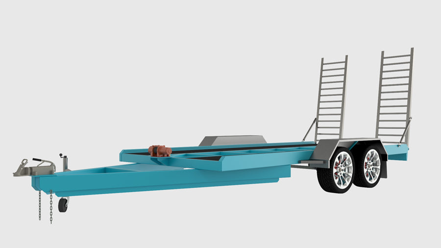 heavy duty car trailer plans blueprints fabplans