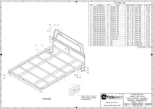 Load image into Gallery viewer, chassis general arrangement of single cab tray
