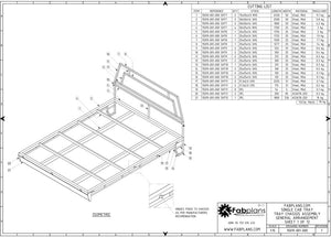 chassis general arrangement of single cab tray