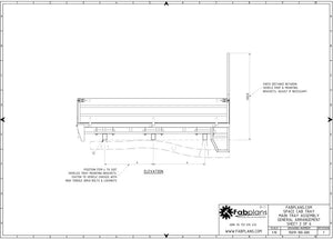 side view of steel ute tray plans