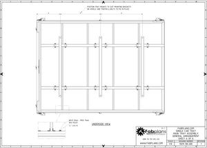underside chassis view fabplans DIY steel cab tray plans