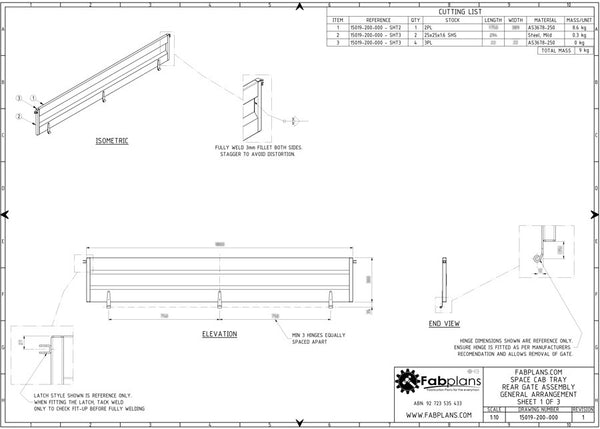 Dual cab steel ute tray plans | build your own tray ...