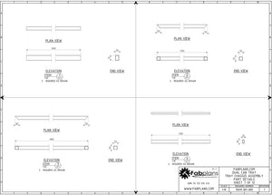dual cab ute tray part drawings fabplans