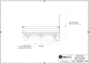side view dual cab ute tray drawing fabplans