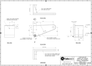 Fabplans car trailer airbag blueprint view