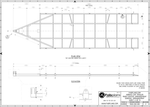 Air bag car trailer plans tandem race car trailer fabplans fabplans air bagged car trailer plans chassis layout malvernweather Images