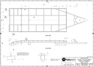 chassis blueprints for the beaver tail car trailer plans
