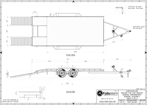 Top view of beaver trail car trailer design trailer blueprints