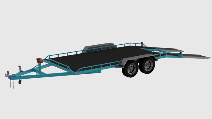 front left view of beaver tail trailer plans