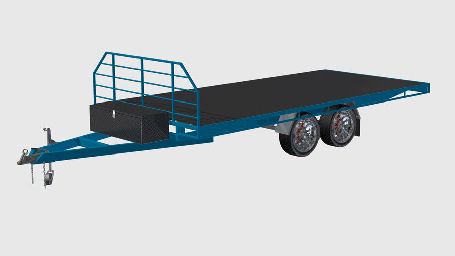 fabplans medium flatbeed trailer plans