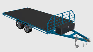fabplans flatbed trailer blueprints CAD render
