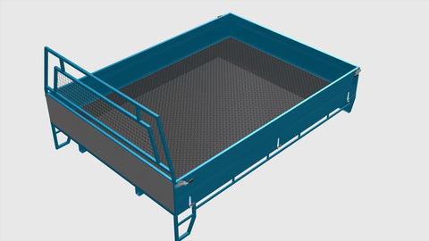 Single Cab Steel Ute Tray