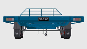 rear view of medium flatbed trailer plans