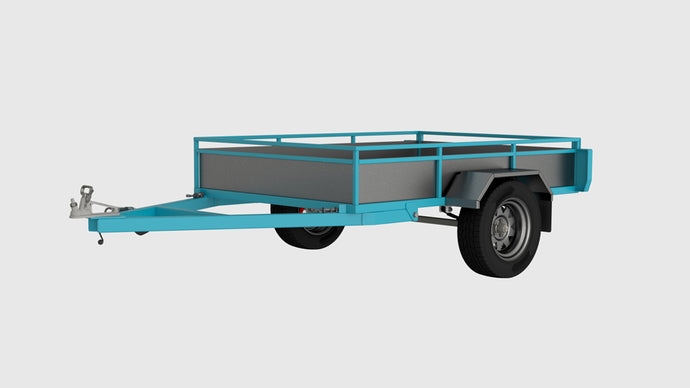 Tilting box trailer front render