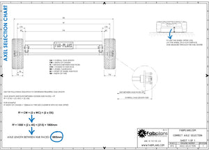 fabplans blueprints how to build a trailer axle cad drawing