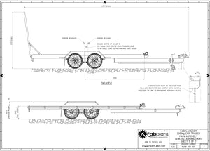 fabplans 3500kg car trailer blueprints fabrication cad drawings