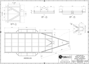 fabplans heavy duty car trailer plans plan view blueprints