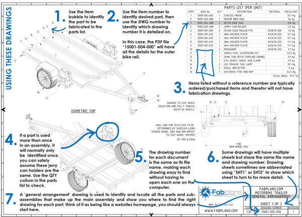 10x7 hydraulic tipping trailer plans diy dump trailer fabplans how to read trailer plans and drawings fabplans blueprints malvernweather Gallery