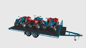 fabplans trailer plans for flatbed heavy duty trailer blueprints