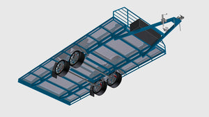 fabplans flatbed 3500kg wide trailer plans blueprints