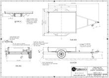 Load image into Gallery viewer, Box trailer drawings blueprints fabplans