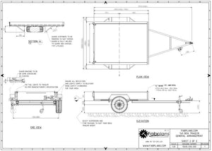 Box trailer drawings blueprints fabplans
