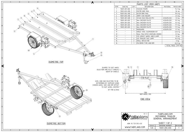 Motorbike Trailer Plans | Build your own MX Trailer – fabplans