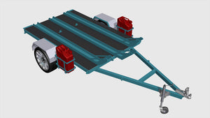 motorbike trailer plans front isometric
