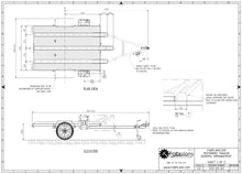 Load image into Gallery viewer, plan view motorbike trailer plans fabplans