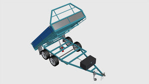 tipper trailer open screenshot fabplans blueprints plans