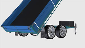rear view of open tipper trailer