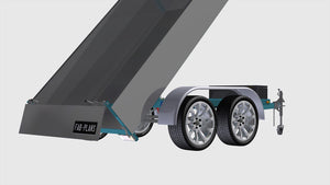open tailgate tipper trailer plans fabplans
