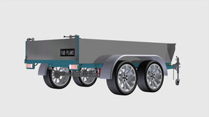 rear right view of dump trailer blueprints fabplans